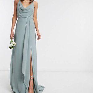 TFNC Bridesmaid Cowl Neck Cami Strap Maxi Dress